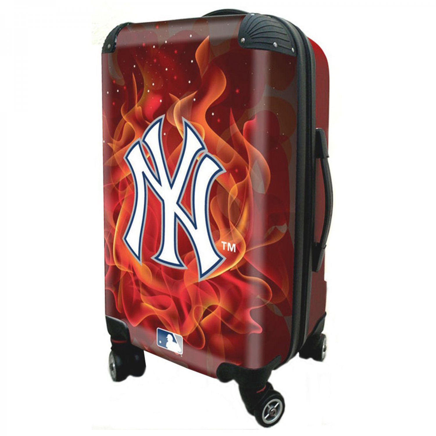 """New York Yankees, 21"""" Clear Poly Carry-On Luggage by Kaybull #NYY16"""