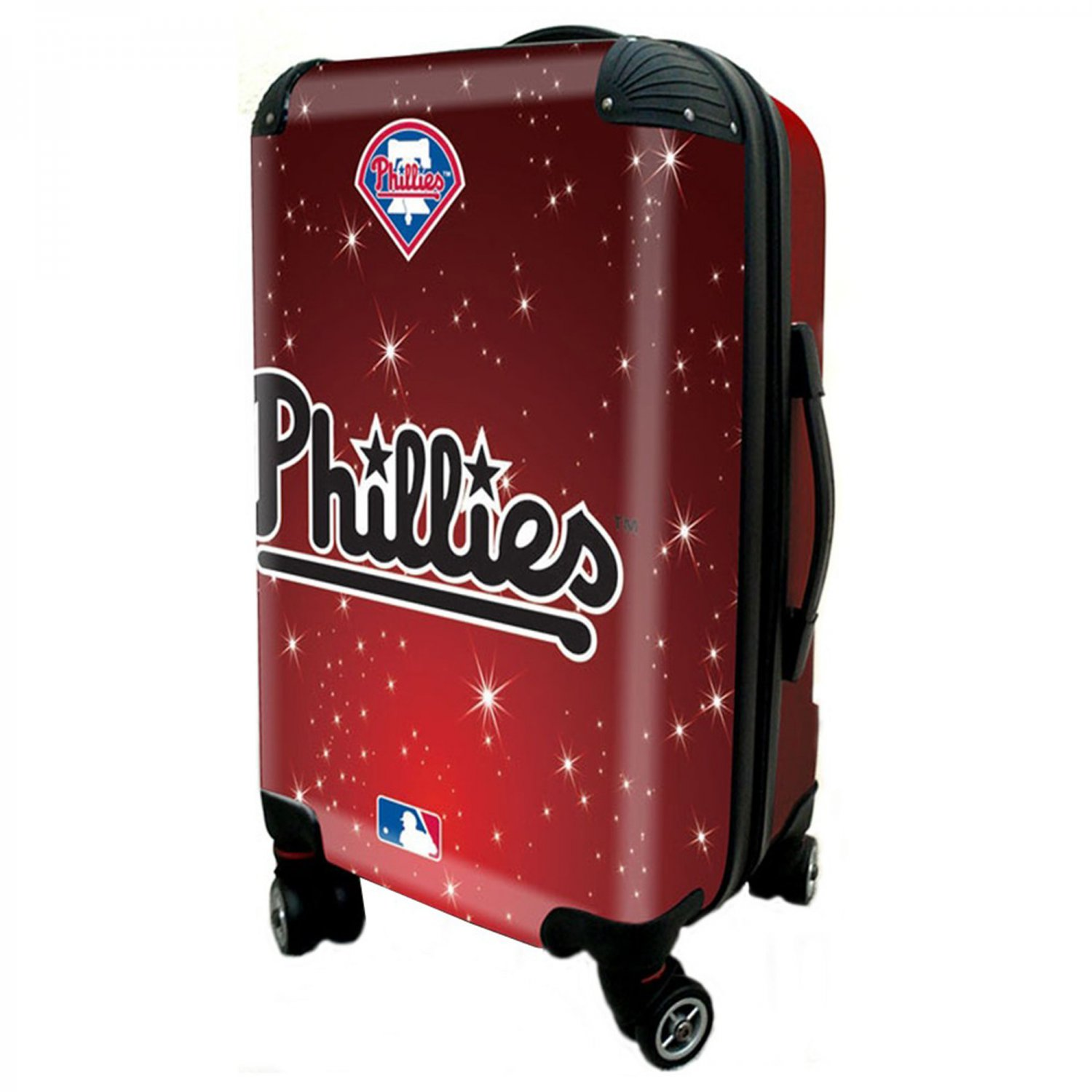 """Philadelphia Phillies, 21"""" Clear Poly Carry-On Luggage by Kaybull #PHI8"""