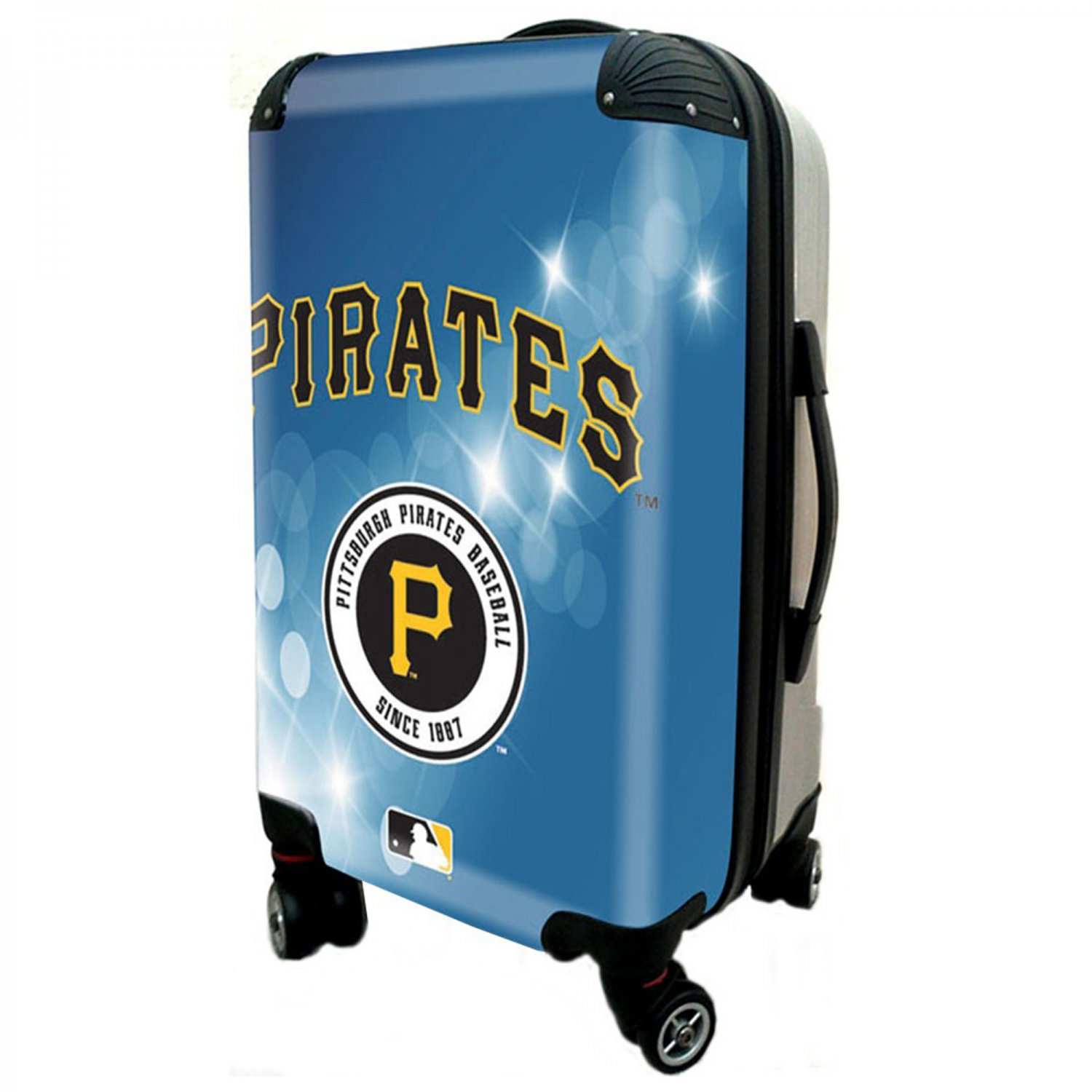"""Pittsburgh Pirates, 21"""" Clear Poly Carry-On Luggage by Kaybull #PIT6"""