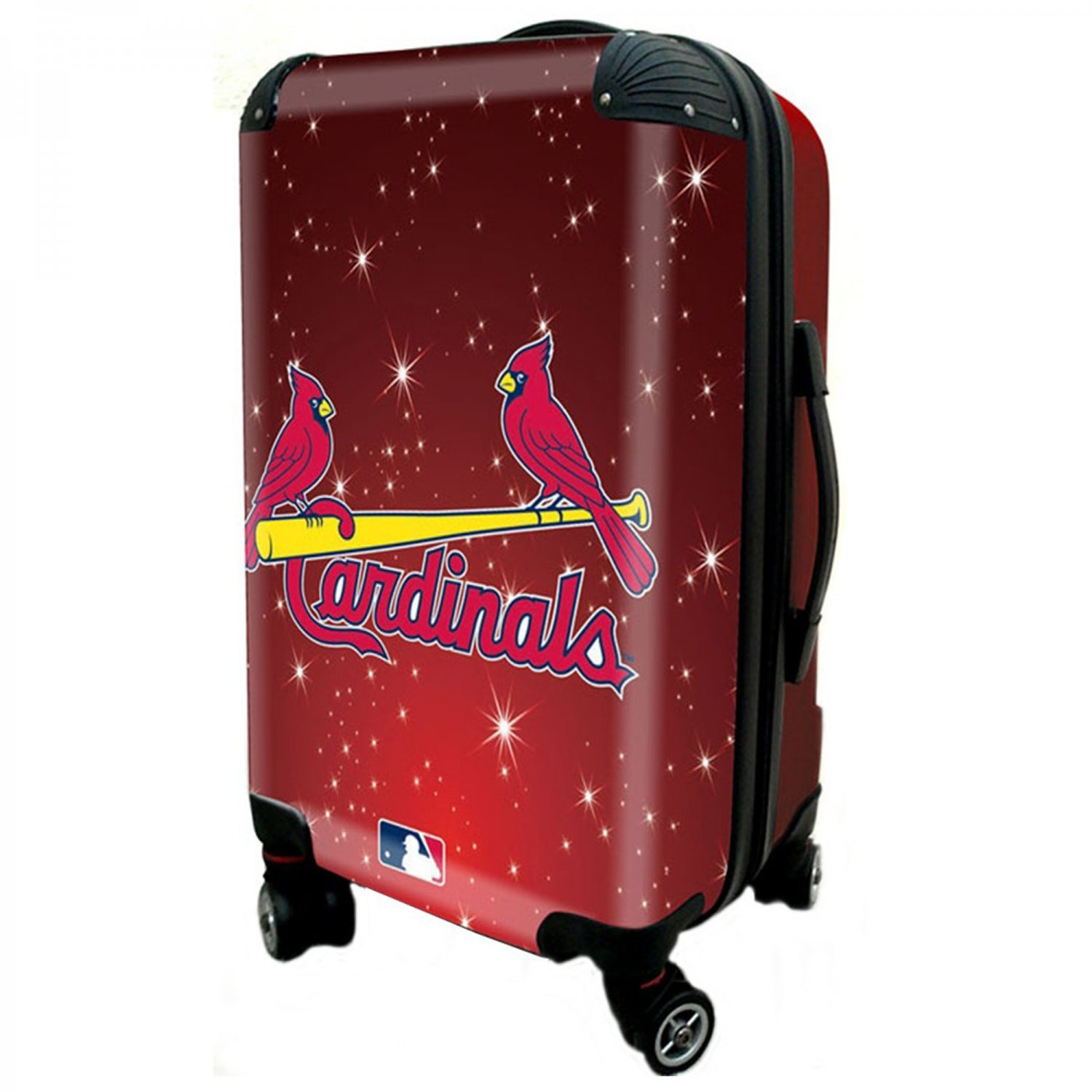 """St Louis Cardinals, 21"""" Clear Poly Carry-On Luggage by Kaybull #STL11"""