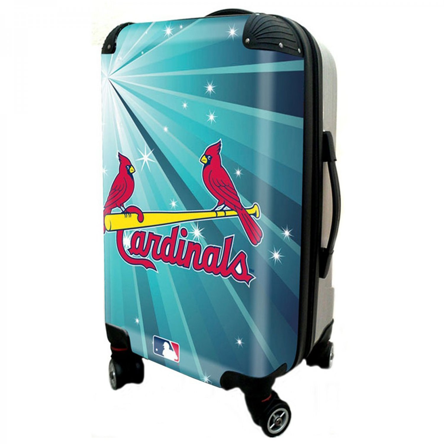 """St Louis Cardinals, 21"""" Clear Poly Carry-On Luggage by Kaybull #STL9"""