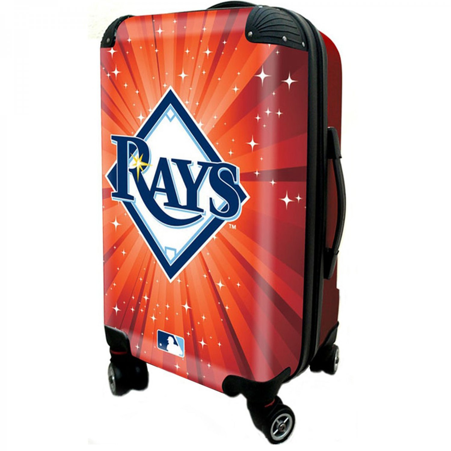 """Tampa Bay Rays, 21"""" Clear Poly Carry-On Luggage by Kaybull #TAM7"""