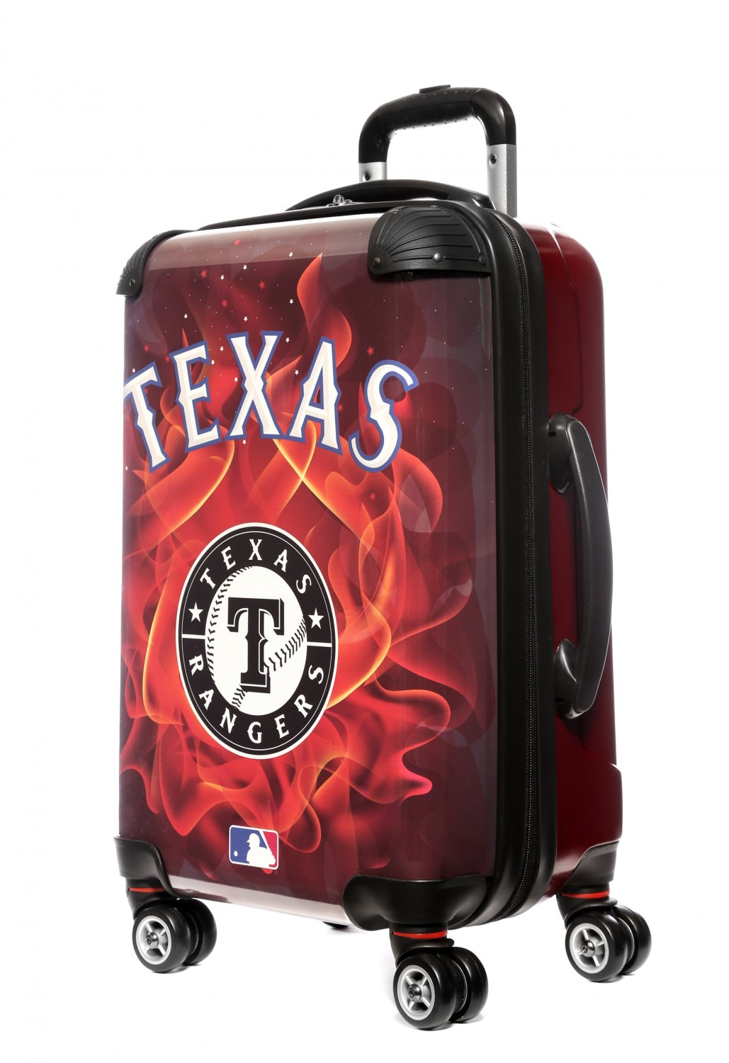 """Texas Rangers, 21"""" Clear Poly Carry-On Luggage by Kaybull #TEX15"""