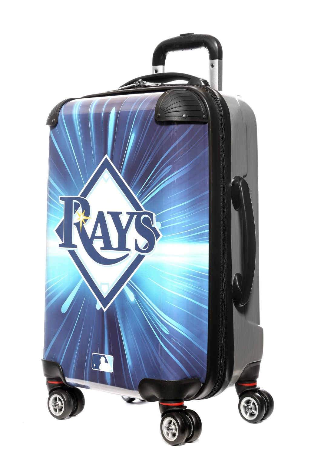 """Tampa Bay Rays, 21"""" Clear Poly Carry-On Luggage by Kaybull #TAM5"""