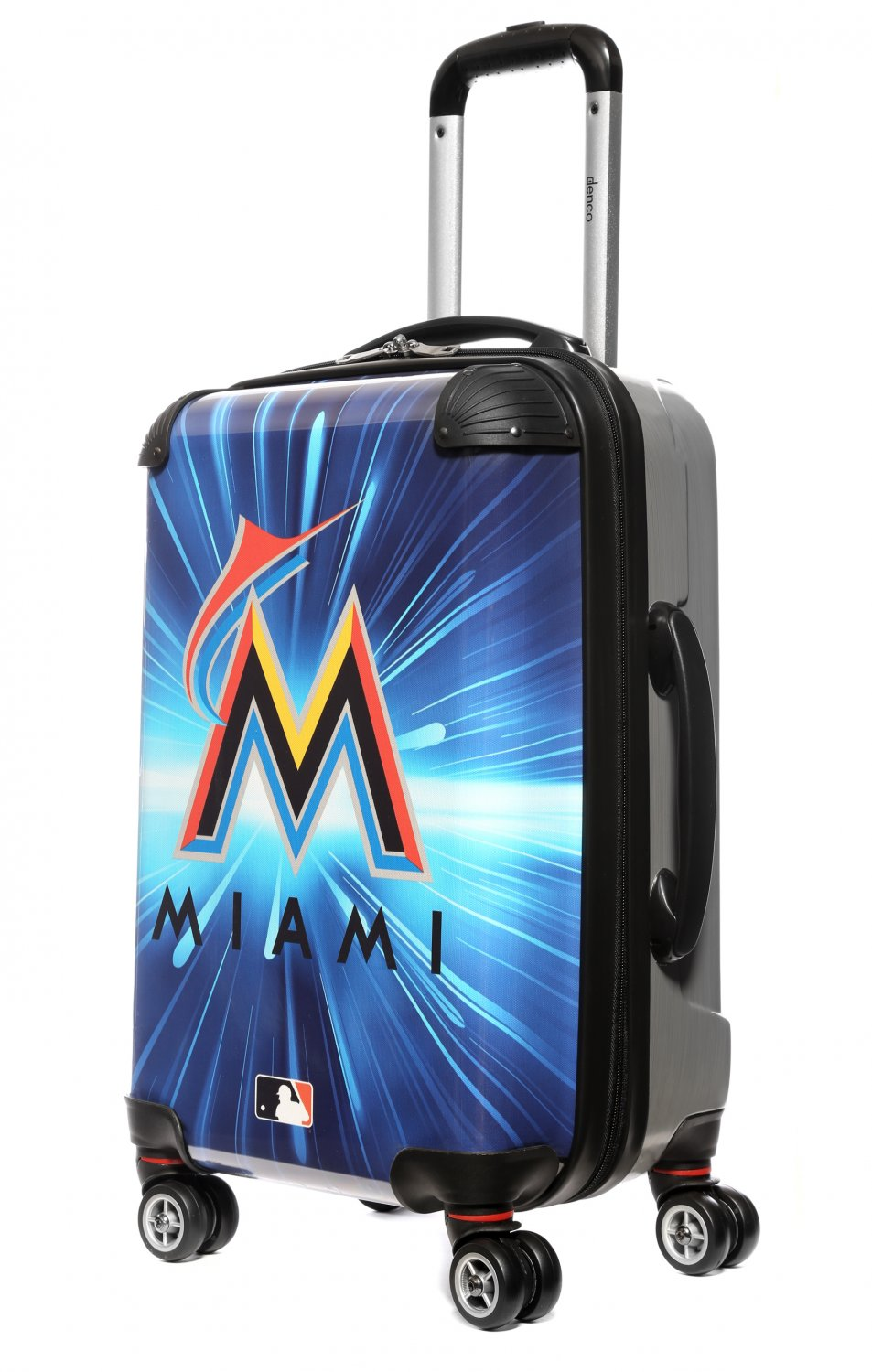 "Miami Marlins, 21"" Clear Poly Carry-On Luggage by Kaybull #MIA3"