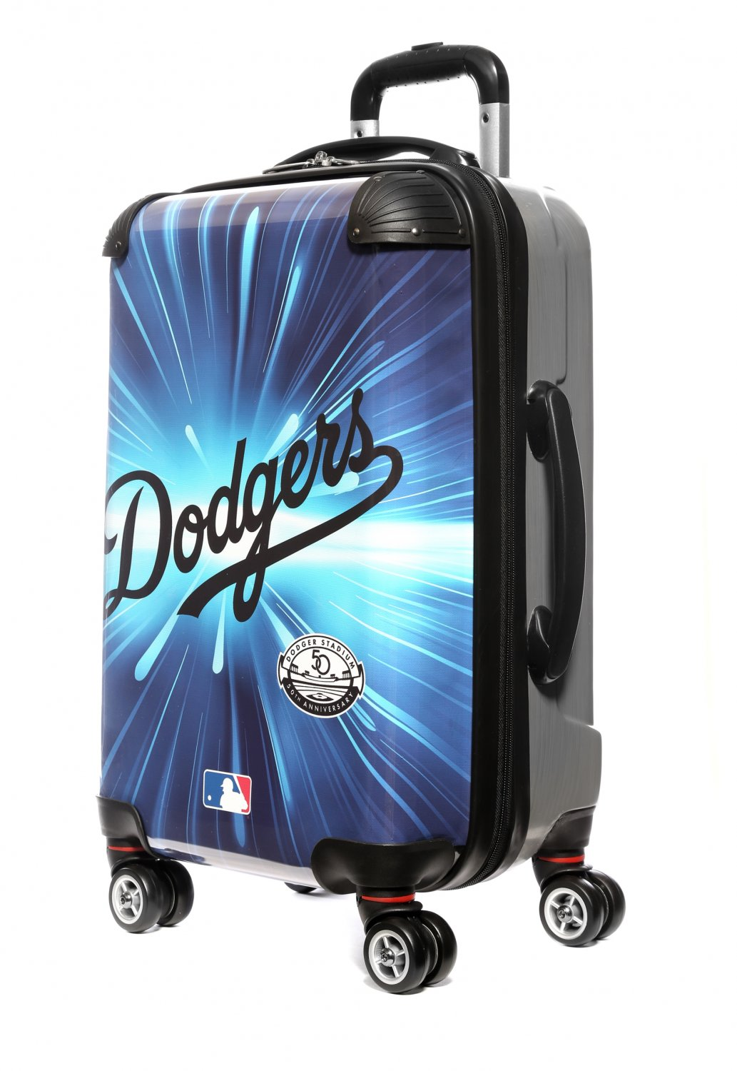 """Los Angeles Dodgers, 21"""" Clear Poly Carry-On Luggage by Kaybull #LAD5"""