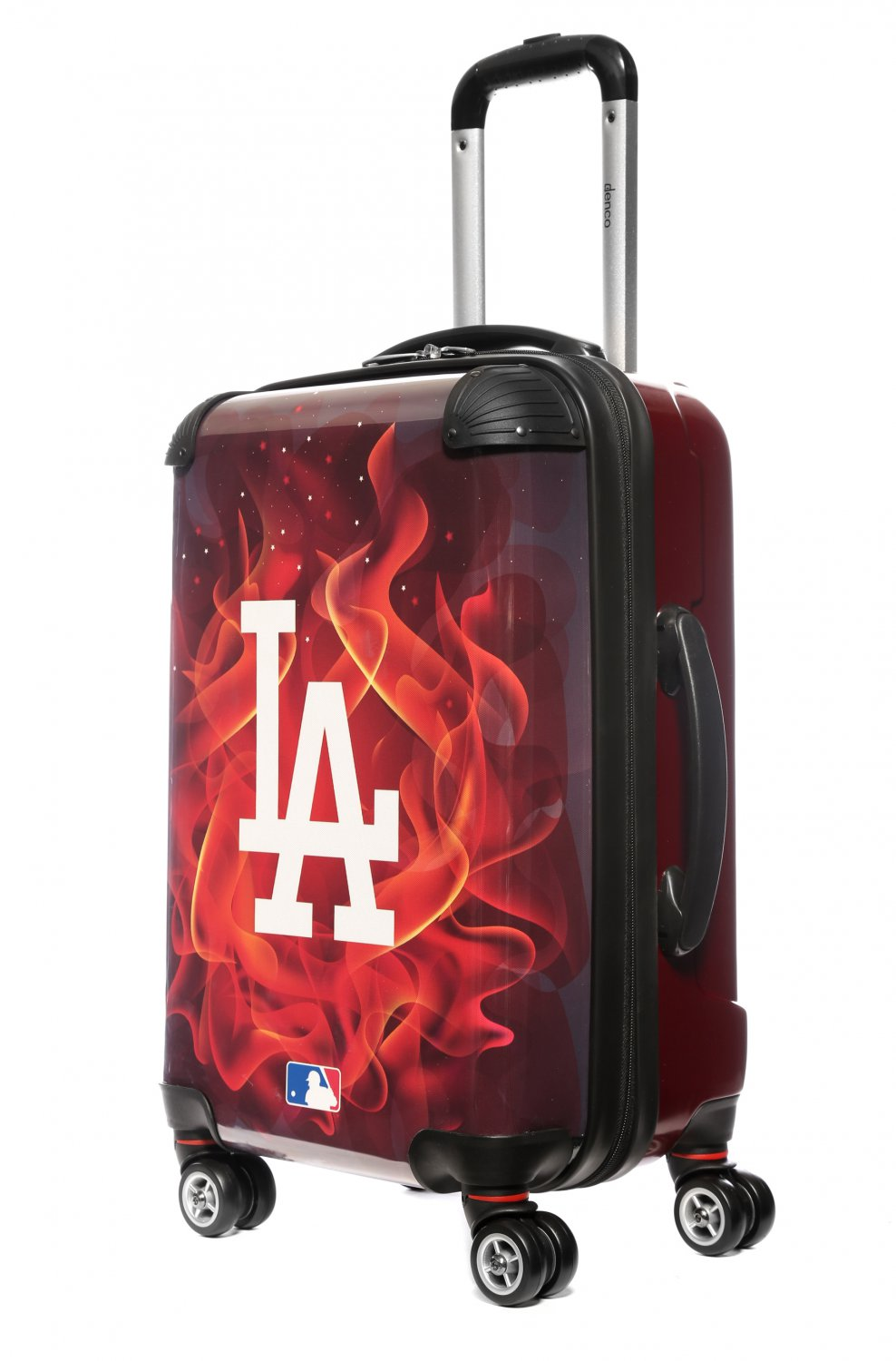 """Los Angeles Dodgers, 21"""" Clear Poly Carry-On Luggage by Kaybull #LAD12"""
