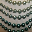 Shades of Blue Faux Pearl Vintage Necklace