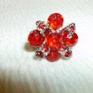 Red Rhinestone Ring - Adjustable