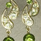 Swarovski Tranquil Green Teardrop Earrings