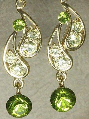 Swarovski Tranquil Green Teardrop Earrings