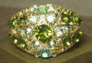Swarovski Tranquil Green Teardrop Ring