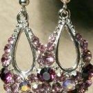 Swarovski Elegant Royal Purple Earrings