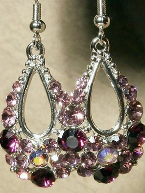 Swarovski Elegant Royal Purple Earrings