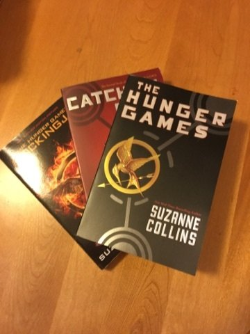 The Hunger Games (three books) by Suzanne Collins