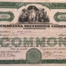 Lackawanna Securities Company - vintage stock certificate