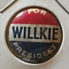 """Willkie For President"" pinback button 1940"