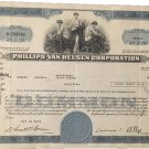Vintage Philips Van Heusen Corporation stock certificate