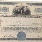 Vintage Philips Van Heusen Corporation stock certificate