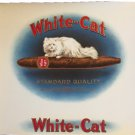 vintage White Cat cigar box label