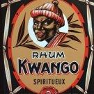 vintage Kwango Rum Label