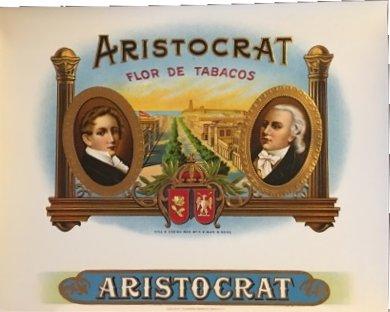 vintage Aristocrats cigar box labels