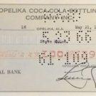 vintage coca cola check