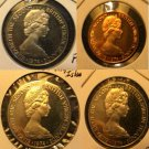 1974 Bermuda lot of 4 proof coins