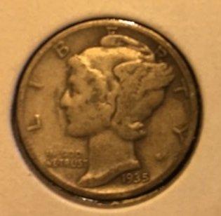 1935 Mercury Dime (Wnged Liberty)