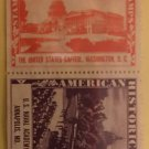 Lot of 4 Vintage American History Poster Stamps from Amoco 1937