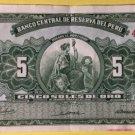 1968 Peru 5 soles de oro