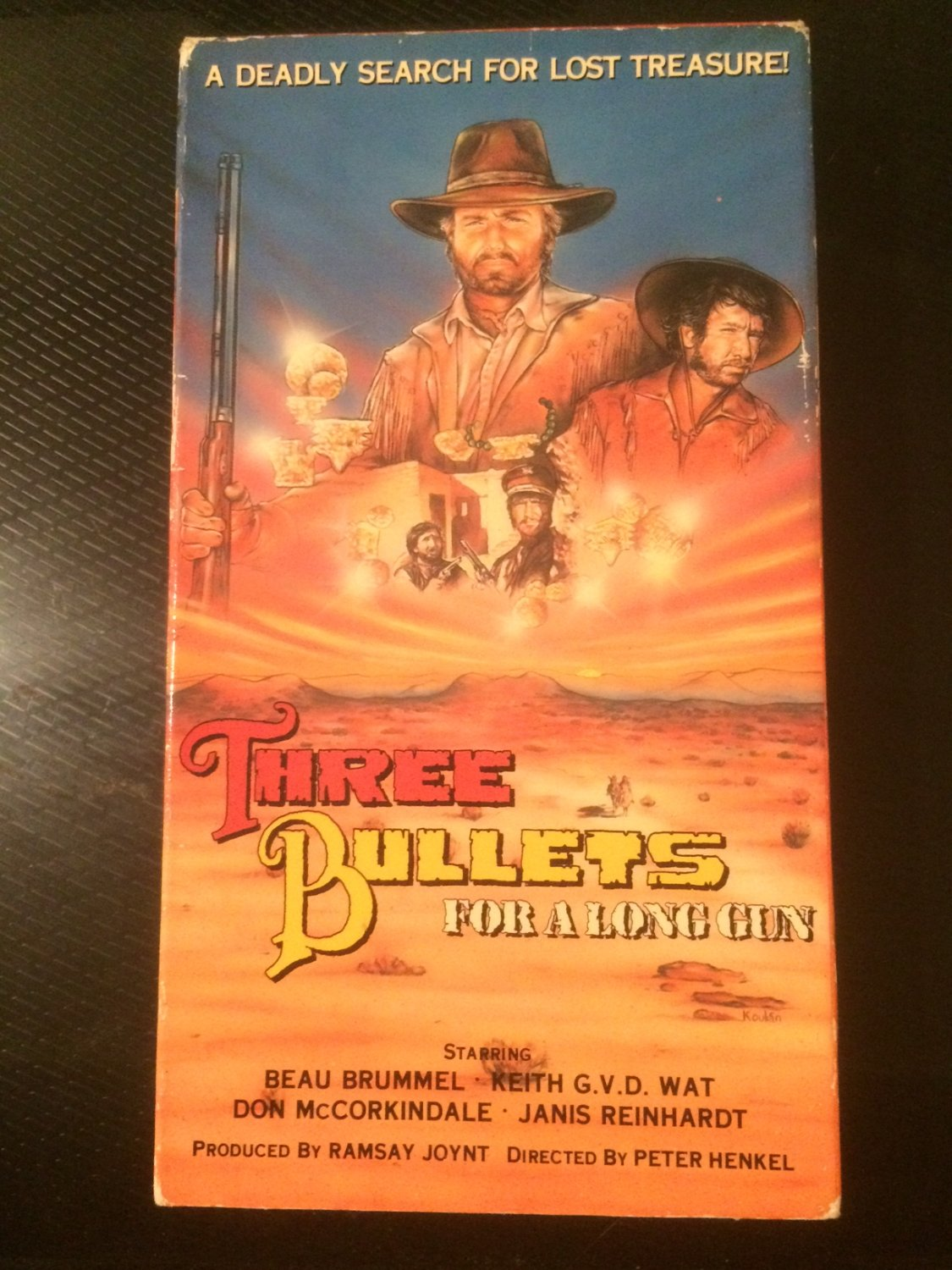 VHS - Three Bullets for a Long Gun - Used - NOT ON DVD