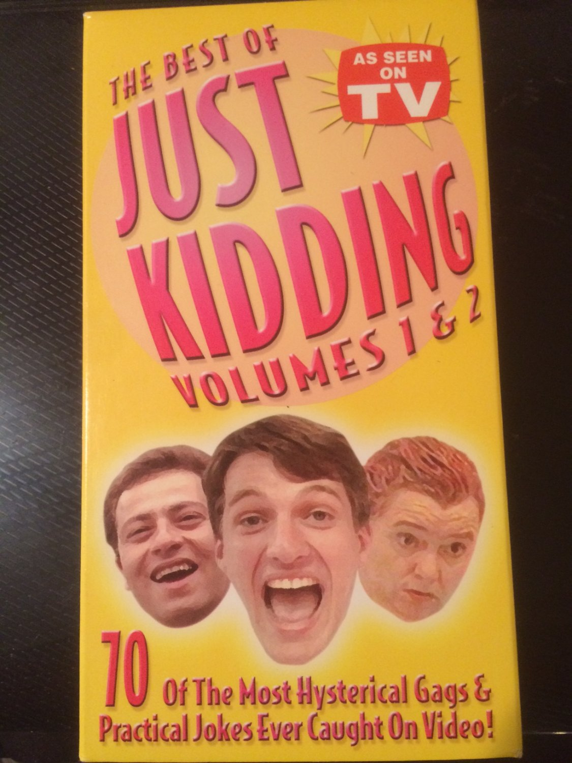 """VHS - The Best of """"Just Kidding"""" Vol. 1 & 2 (2 Tapes) - Used - NOT ON DVD"""