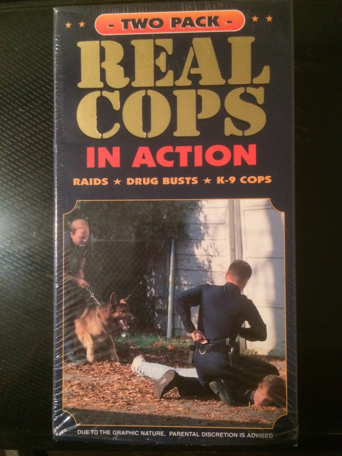 VHS - Real Cops in Action (2 Tapes) - Used - NOT ON DVD!