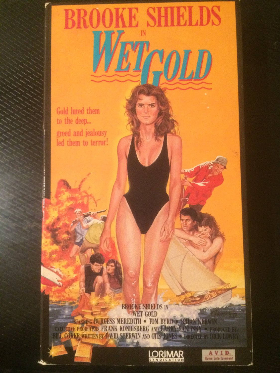 VHS - Wet Gold (Brooke Shields) - Used - OOP ON DVD