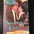 VHS - Sincerely, Violet - Used - NOT ON DVD