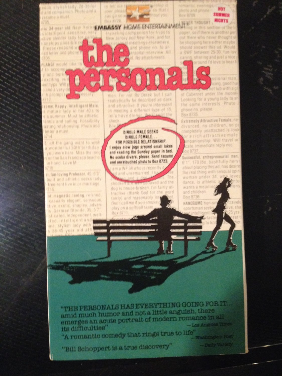 VHS - The Personals - Used - NOT ON DVD