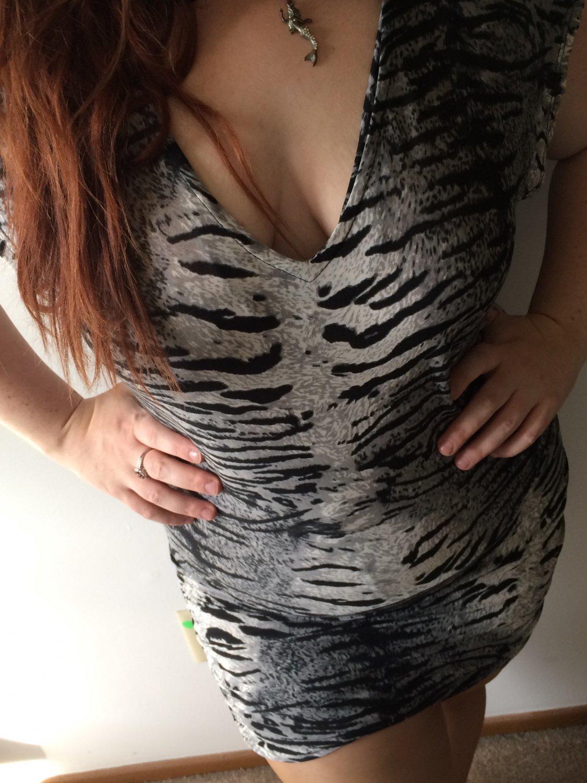Clothing - Grey Tiger Print V-Neck Mini Dress - Large