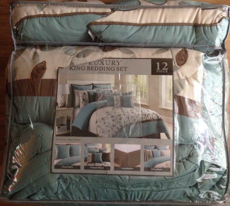 NEW Bedding - Eleana 12-Piece Floral Bedding Set - KING (PRICE DROP!)