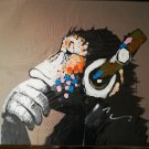 "NEW BPAGO Gorilla with Headset Single Panel Canvas Painting - (20"" x 24"") (PRICE DROP!)"