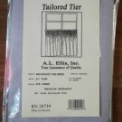 NEW Ellis Curtain Stacey 56-by-24 Inch Tailored Tier Pair Curtains, Ice Cream, 56x24