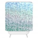 NEW East Urban Home Snowfall Shower Curtain - BLUE MIST