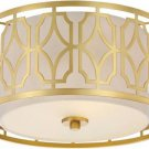 "Nuvo Lighting 60/5931 Filigree 2-Light 15"" Wide Flush Mount Drum Ceiling Fixture"