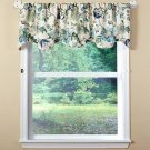 "NEW Ellis Curtain Brissac Lined Scallop Valance 70 x 17"" Blue - 2-pack!"