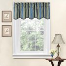 NEW Traditions by Waverly Stripe Ensemble Scalloped 52x16 Window Valance - 2-Pk!