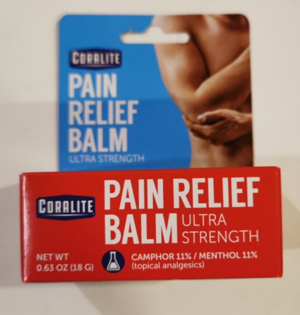 NEW Coralite Ultra Strength Pain Relief Balm, .63 oz