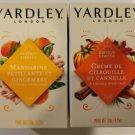Yardley Sparkling Mandarin & Ginger &  Pumpkin Cream & Cinnamon LE Soap Bars