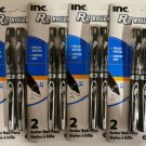 Inc. R2 Roller Ball 0.7mm Ink Pens - Black Ink (4-Pack)