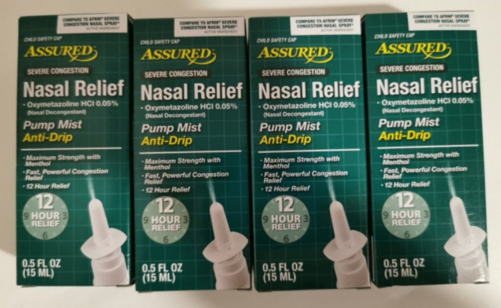 Severe Congestion Nasal Relief Spray, 0.5 fl. (x4)