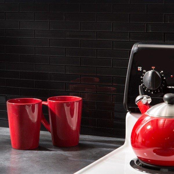 DIY Backsplash Tile Peel Stick Bathroom Kitchen Remodel Idea Home Basement